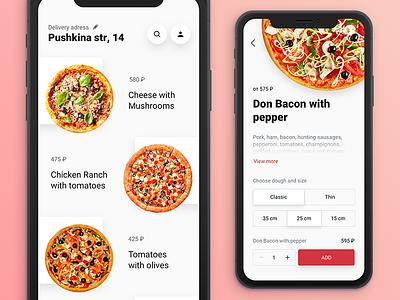 Pizza order order option ios pizza food eat choise app