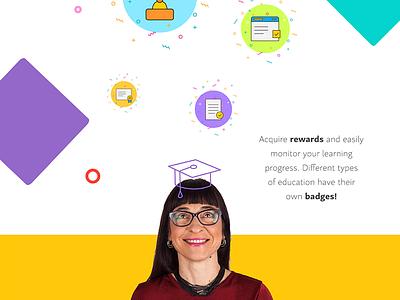 LPC - 1st Croatian online learning store web ux ui pattern logo illustration icon education design cute color branding