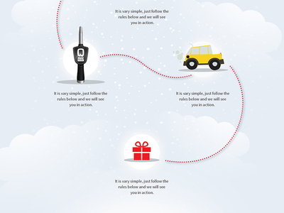 PETROL - WINTER FACEBOOK GAME winter snow play illustration icon gifts game facebook cute city christmas car