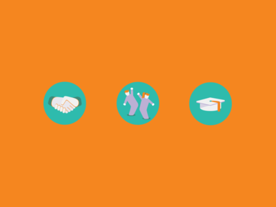 Icons for Volonteri organisation