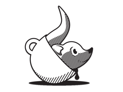 Badger in a Cup Sticker