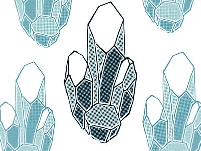 Simple Half-tone Geode Print