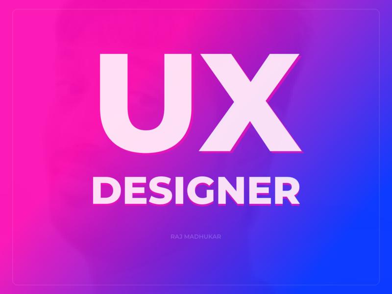 UX Designer design shadow typogaphy banner ui ux