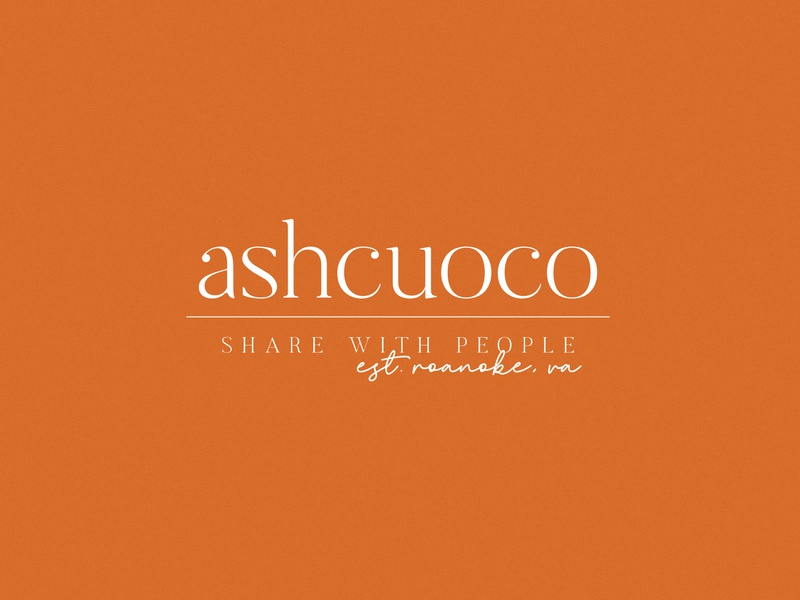 Logo for AshCuoco logo script logo design branding brand adobe illustrator typography design