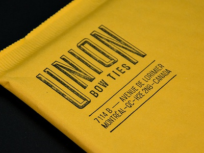 Union Bow Ties Shipping Envelope