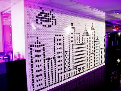 Wall of pixels