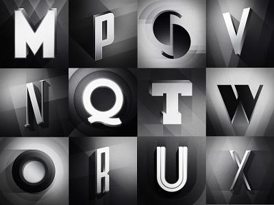 Part 2: 36 Days of Type 08 filmnoir noir design illustration typography 36daysoftype08 36daysoftype 36days oldmovies artdeco deco geometric letters hollywood