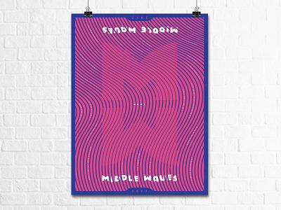 Middle Waves Poster gig poster typography design illustration