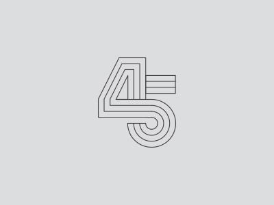 45 Monogram design typography