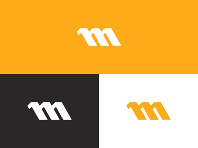 M Logo icon m type typography design logo