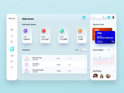 Finance Management Dashboard design web ux ui ui design