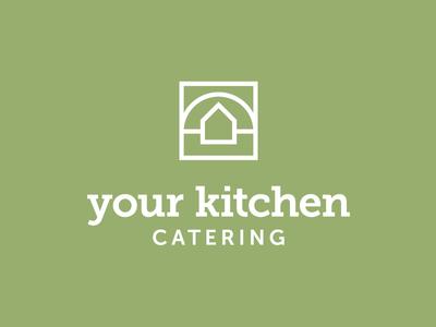 Your Kitchen Catering Logo monogram logotype wordmark logo business cooking restaurant food catering kitchen