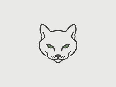 Sassy Cat gray grey green drawing line feline cat sassy