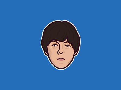Paul McCartney birthday musician illustration portrait music rock classic wings beatles mccartney paul