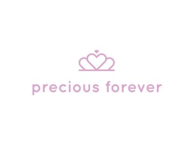 Precious Forever jeweller love heart crown diamond gems gem diamonds gifts logo jewelry child children jewellery