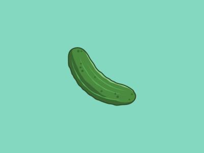 Pickle illustrator drawing cucumber eat food green vector illustration pickle