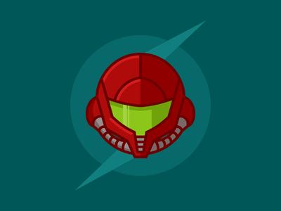 Samus Aran Helmet (Classic) vector illustration video games video game nintendo helmet samus aran samus