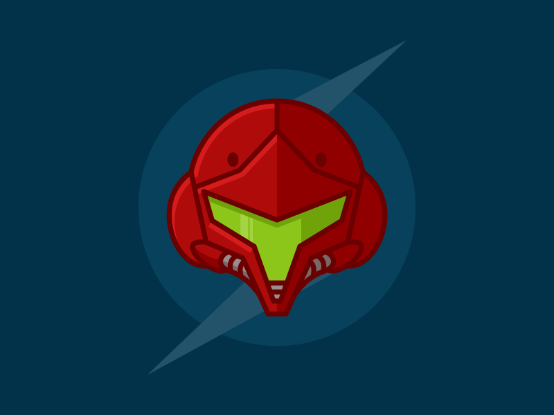 Samus Aran Helmet (Samus Returns) sci fi space 3ds helmet vector illustration video games nintendo samus aran samus metroid