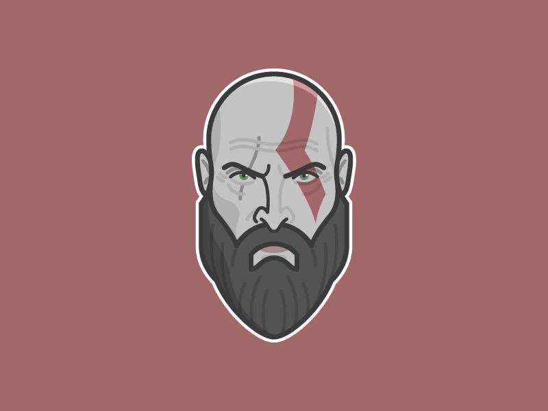 Kratos God Of War By Mathew Ware On Dribbble