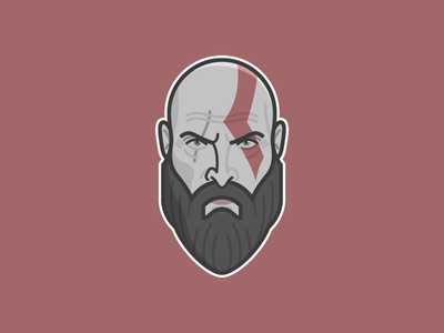 Kratos God of War boy spartan character beard vector illustration videogames videogame video games video game ps4 playstation 4 playstation kratos god of war