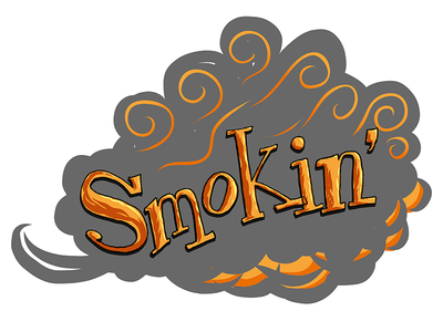 Smokin' typography illustration