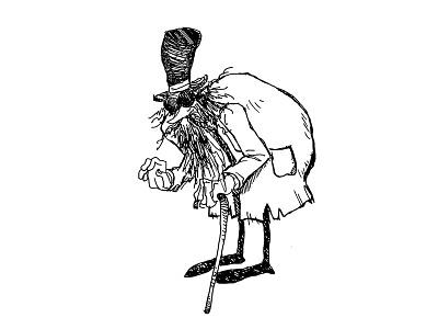 Gorey Guy illustration pen ink gorey cartoons comics