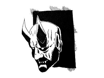 Demon Face demon illustration pen ink cartoons comics