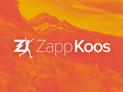 ZappKoos Logo social media runner athletic zappkoos branding logo
