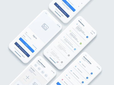 Blossom App Wireframe sketch iphone x diffused gradient ui app account setting notifications sign up sign in plant app high-fidelity wireframe wireframe
