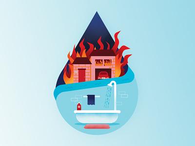 Drip drip drop water illustration advertising