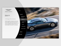Menu concept for Aston Martin