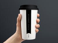 Black Umbrella Coffee Cup