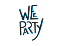 Lettering for Wee Party