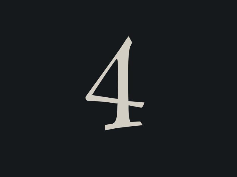Family Flight font number 4 revival nature wood forest simple logo illustration font design font bundle lettering flat vector branding icon art number font typography ui design