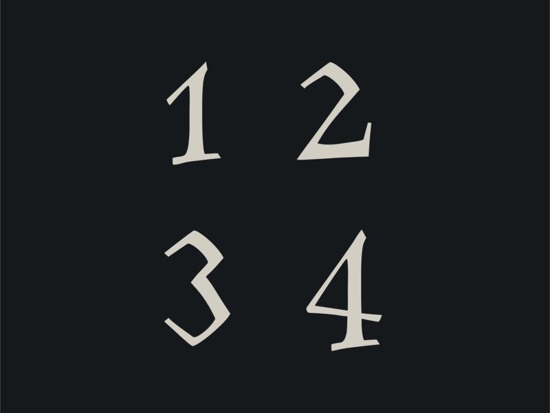 Family Flight font numbers forest design ui typography font number art icon branding vector flat lettering font bundle font design illustration logo simple wood nature revival