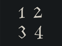 Family Flight font numbers
