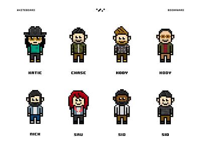 8bit Whiteboard Staff 8 bit whiteboard humans people vintage retro video game characters coworkers staff pixels pixelart gaming 8-bit