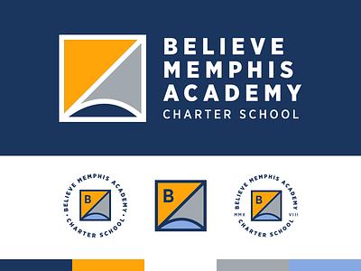 Believe Memphis Academy brand graph book reading math memphis logo branding school charter school