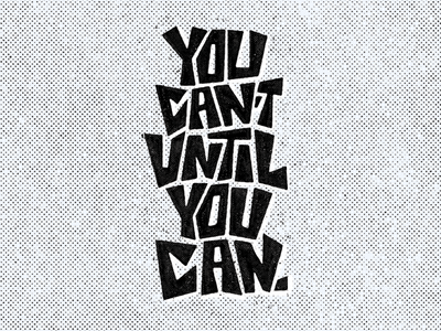 You Can encouragement ipad lettering type design type letters sketch mental health hand lettering lettering