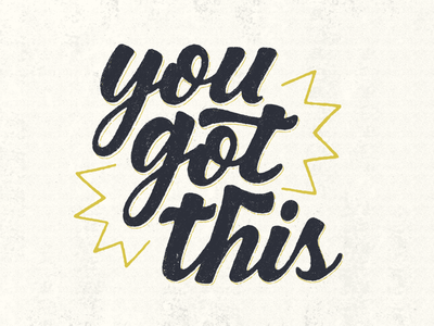 You Got This distress texture calligraphy script ipad procreate type hand lettering lettering