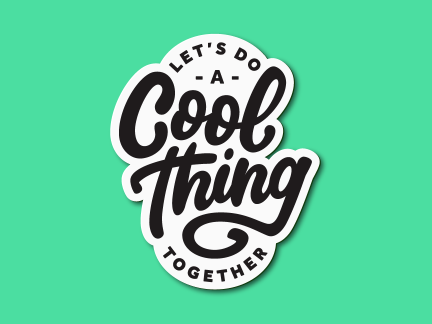 Cool Things sticker badge cool type typography script hand lettering lettering