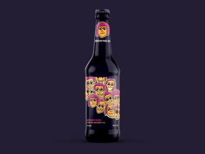 Bright Eyes Beer Label
