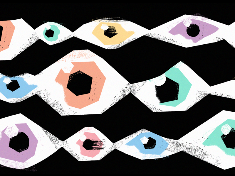 Connections colors textures eye illustration design