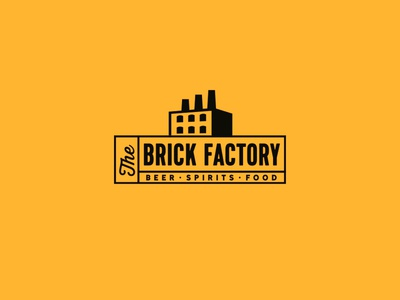 The Brick Factory meaningful logo bottles smart logos logo design restaurant tap house beer brick factory