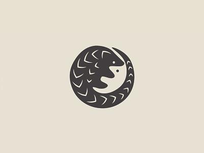 Savepangolins.org logo design endangered species pangolins animal rights animal conservation negative space
