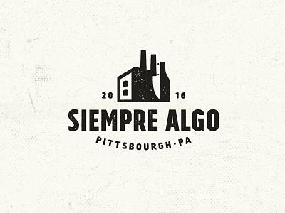Siempre Algo (always something) siempre algo logo negative space america industrial pittsbourgh beers drinks restaurant