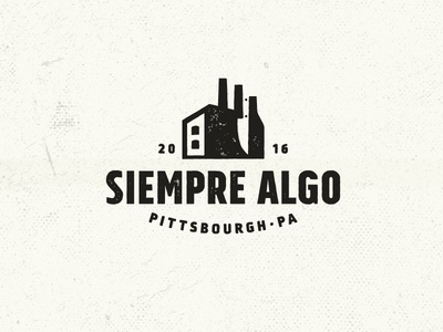 Siempre Algo (always something) siempre algo logo negative space america industrial pittsbourgh beers drinks restaurant