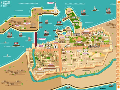 Ancient Alexandria map by osama Moharem on Dribbble on davis islands map, prince islands map, king islands map, hall islands map, berry islands map,