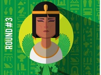 Cleopatra the seventh - flat design poster