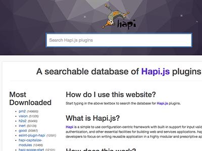 hapi-plugins.com react.js bootstrap search polygonal ui